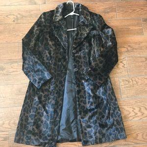 New w/o tags leopard peacoat medium Style & Co